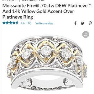 Moissanite Fire band ring